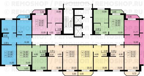 двухкомнатная квартира + две однокомнатные квартиры