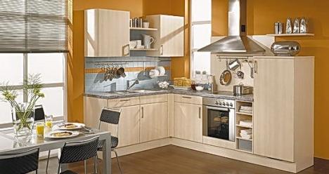 новая встроенная кухня с современной бытовой техникой