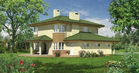 Дом, двухэтажный с двумя ванными, всего 6 комнат, дворик