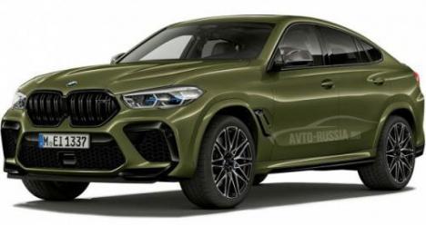 BMW X6-M 2021 года. Цвет хаки.
