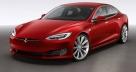 Новый электромобиль Tesla Model S 2017 красного цвета