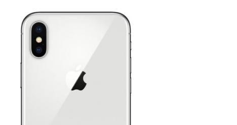 Iphone x  в серебристом цвете